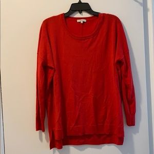 Madewell Red Merino Wool Sweater